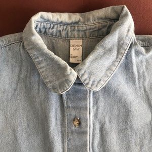 Denim sleeveless shirt from American Apparel